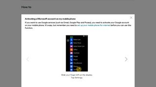 Activating a Microsoft account on my mobile phone - Nokia Lumia 625 ...