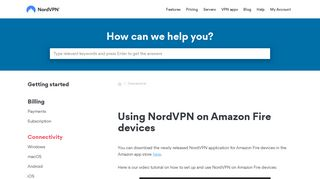 Using NordVPN on Amazon Fire devices