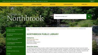 Northbrook Public Library   Northbrook, IL - Village of Northbrook