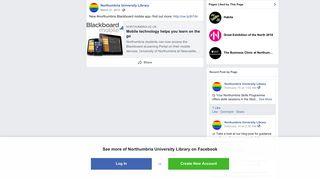 New #northumbria Blackboard mobile app-... - Northumbria University ...