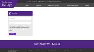Login - Kellogg School of Management - Northwestern University