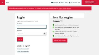 Log in | Norwegian Reward