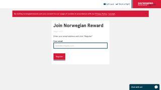 Sign up to Norwegian Reward | Norwegian Reward