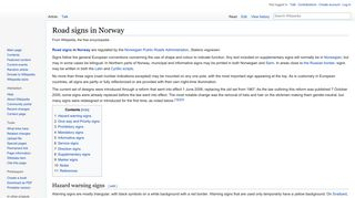 Road signs in Norway - Wikipedia