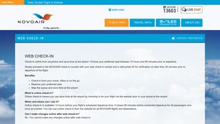 NOVOAIR - Web Check-in
