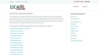 LocalTel Internet Support