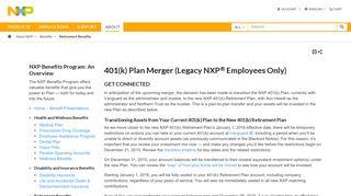 401(k) Plan Merger (Legacy NXP Employees Only)|NXP