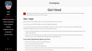 Firefighter - JoinFDNY
