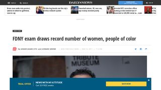 FDNY exam draws record number of women, people of color - New ...