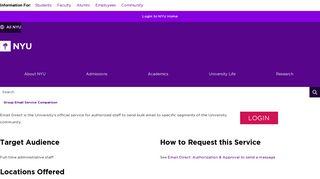 Email Direct - NYU