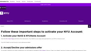 Critical Instructions - NYU