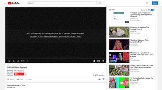 OAP Online System - YouTube