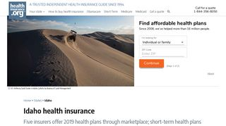 Idaho health insurance: find affordable coverage | healthinsurance.org