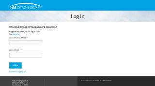 ABB OPTICAL GROUP: Log In