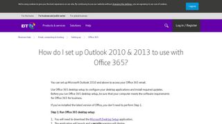 How do I set up Outlook 2010 & 2013 to use with Office 365? | BT ...