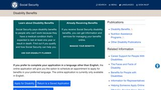 Disability Benefits | Social Security Administration