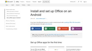 Install and set up Office on an Android - Office Support - Office 365