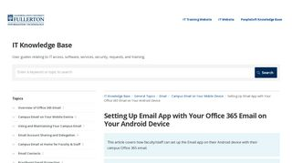 Setting Up Email App with Your Office 365 Email on Your Android ...