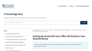 Setting Up Gmail with Your Office 365 Email on Your Android Device ...