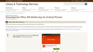 Download the Office 365 Mobile App for Android Phones   Library ...
