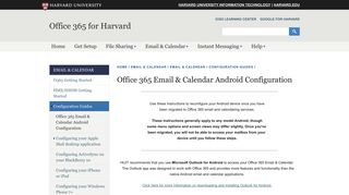 Office 365 Email & Calendar Android Configuration   Office 365 for ...