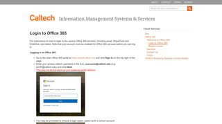 login to Office 365 - Information Management Systems & Services