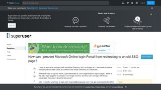 redirection - How can I prevent Microsoft Online login Portal from ...