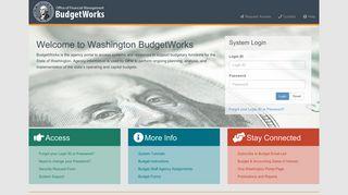 OFM BudgetWorks Login