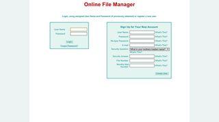 Online List Maintenance: Login
