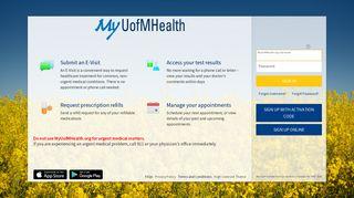 MyUofMHealth.org - Login Page