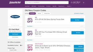 40% Off Old Navy Coupon, Promo Codes + $5 Cash Back 2019