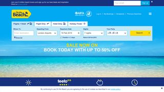 On the Beach - Find and Book Cheap Holiday Deals