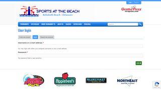 User login | Sports at the Beach