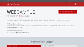 WebCampus | WebCampus | UNLV Information Technology