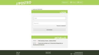 Login - E-Mail grün, sicher, einfach und werbefrei - posteo.de -