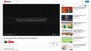 NPTEL ONLINE FREE COURSES AND HOW TO REGISTER - YouTube