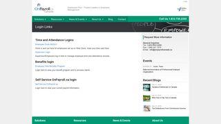 Login Links   OnPayroll Canada   Providing Professional Employer ...