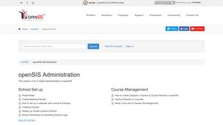 openSIS Administration – OS4ED