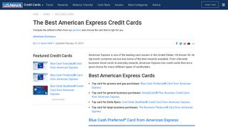 The Best American Express Credit Cards of 2018   U.S. News