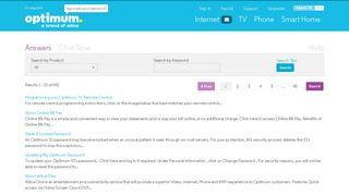 Accessing Web-Based Optimum Online E-Mail - FAQ - Service