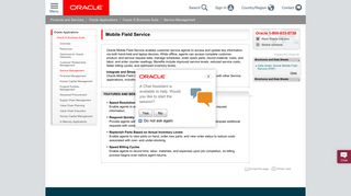 Mobile Field Service | Oracle