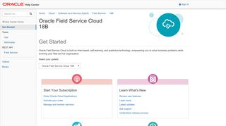 Oracle Field Service Cloud 18B - Get Started - Oracle Help Center