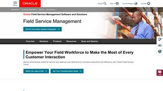 Oracle Customer Experience Service - Field Service Solutions | Oracle