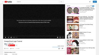 Orange Email Login Tutorial - YouTube