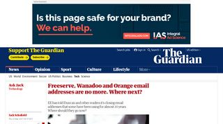 Freeserve, Wanadoo and Orange email addresses are no more ...