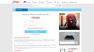 Webmail Free.fr - zimbra.free.fr - Free
