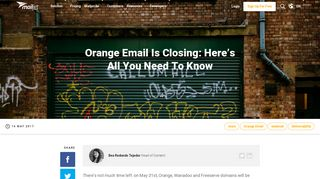 Orange Email Is Closing: Here's All You Need To Know - Email ...