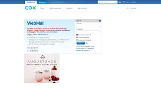 WebMail - Cox Communications - Residential Home