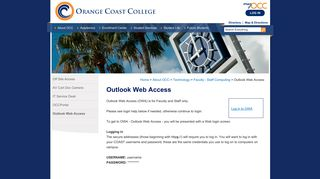 Outlook Web Access - Orange Coast College