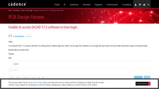 Unable to access OrCAD 17.2 software in User login - PCB Design ...